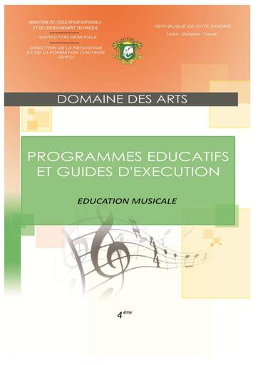 Programmes éducatifs et guides d'exécution Education Musicale 4eme