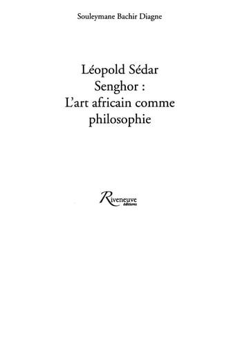 L'art africain comme philosophie