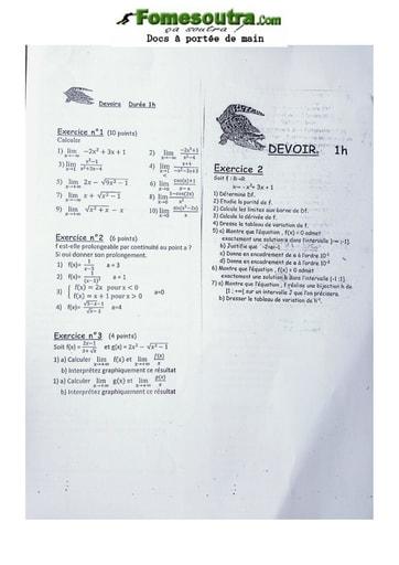 Exercice sur la Probabilité et les Limites Première D
