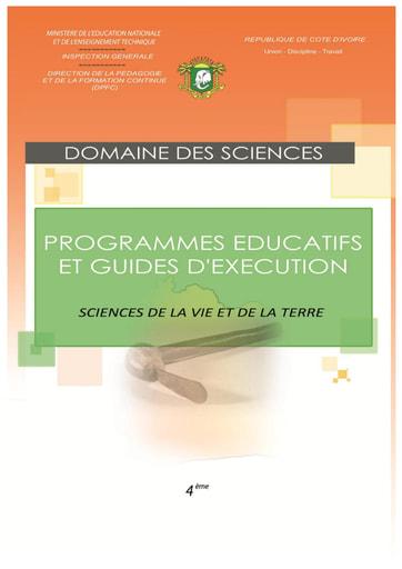 Programmes éducatifs et guides d'exécution Physique-Chimie 4eme