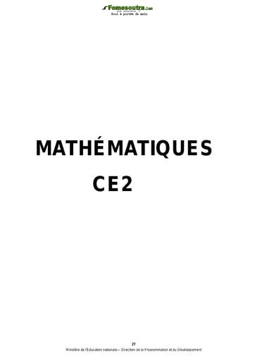 Exercices de maths niveau CE2