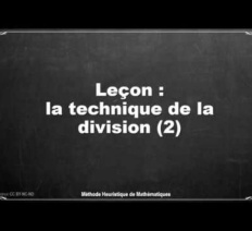 Leçon division posée CM2